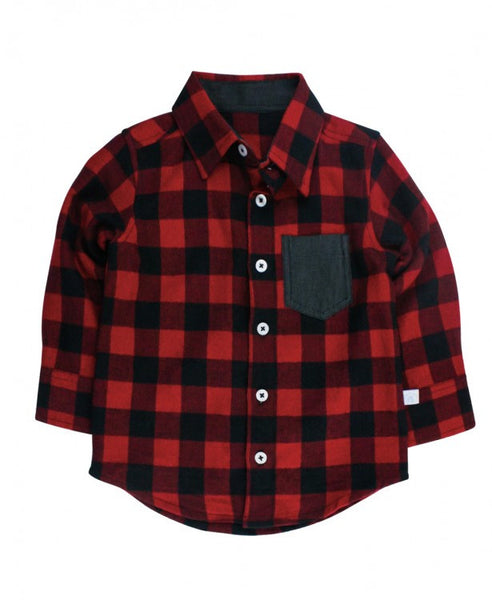 Red Buffalo Plaid Button Down Shirt