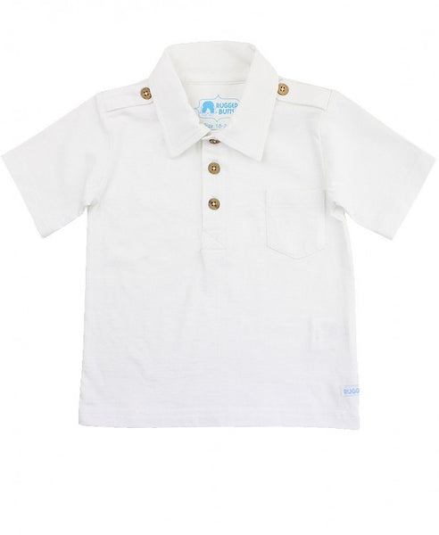 White 1-pocket Polo