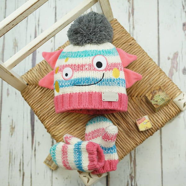 Messy Monster Hat & Mittens Set