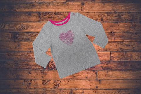 Blade & Rose Top - Distressed Heart Grey