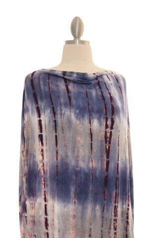 Covered Goods Multi-use Nursing Cover - Plum Shibori
