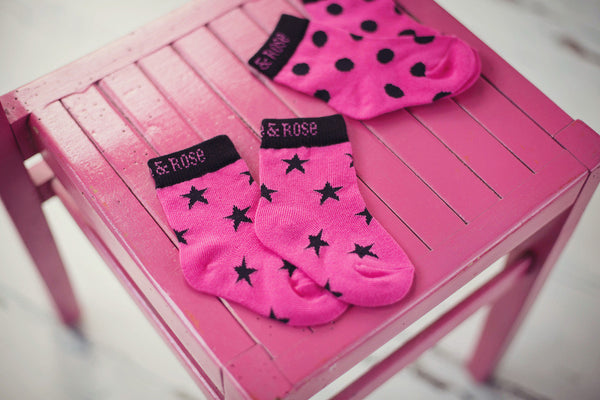 Blade & Rose Socks - Hot Pink & Black