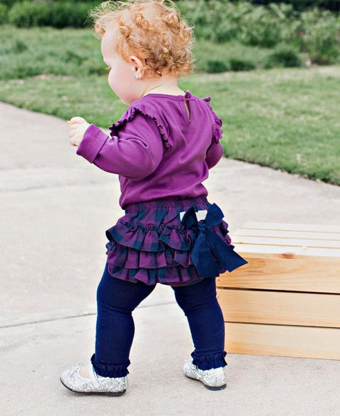 Plum & Navy Buffalo Plaid RuffleButt