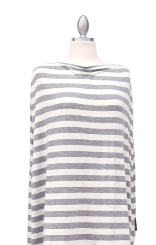 Covered Goods Multi-use Nursing Cover - Classic Grey & Ivory Stripe