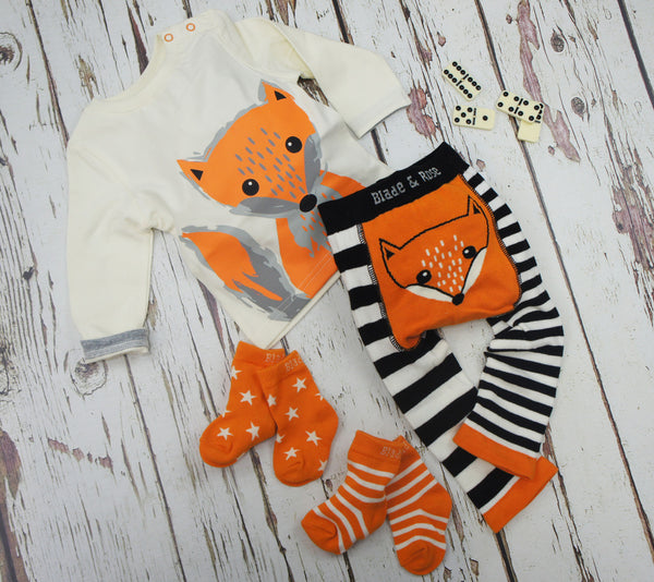 Blade & Rose Socks - Orange and Cream