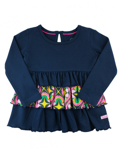 Navy Day at the Park Ruffle Top