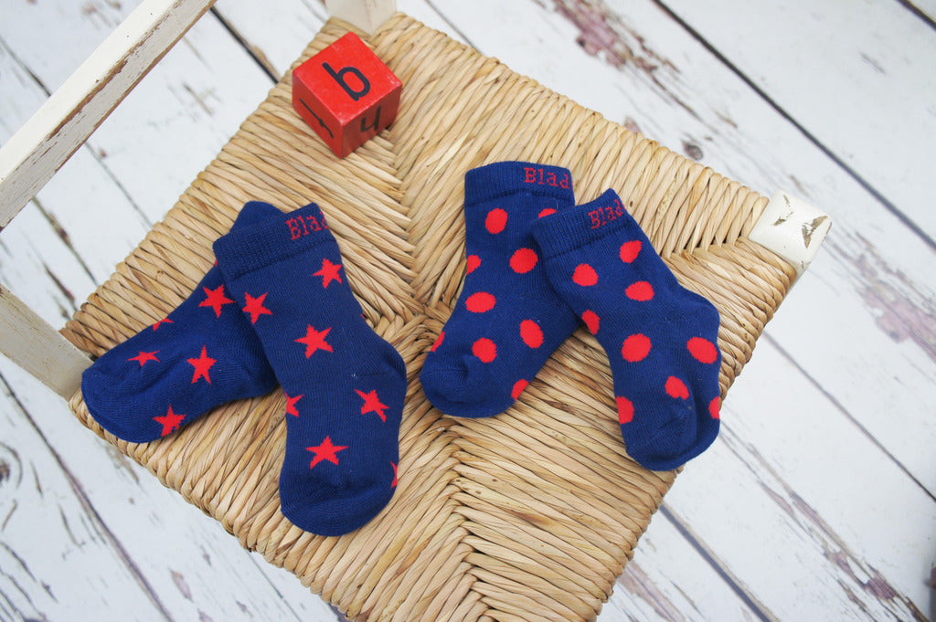Blade & Rose Socks - Navy & Red