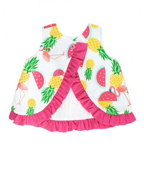 Pineapple Picnic Bow-Front Swing Top