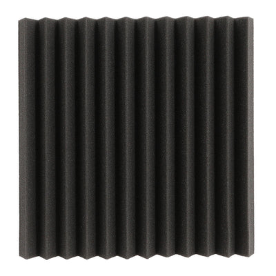 "(12 PK) Acoustic Studio Soundproofing Wedge Foam Panels WITHOUT Adhesive - 12"" x 12"" x 1"" (Charcoal)"