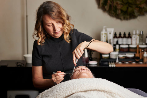 Microcurrent facial at Calm Beauty Brooklyn NYC