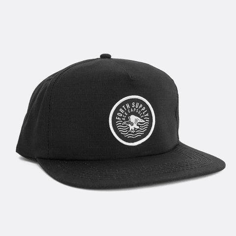 THE RIPSTOP SNAPBACK - BLACK