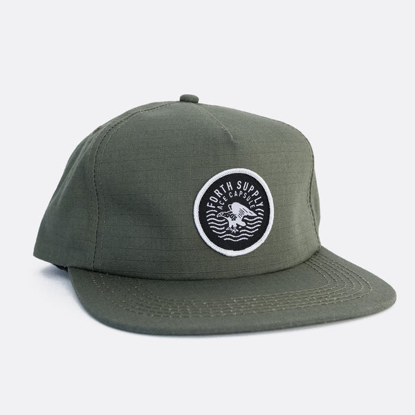 THE RIPSTOP SNAPBACK - OLIVE