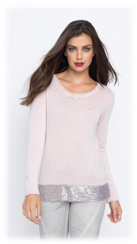 SEQUINED BOTTOM SWEATER