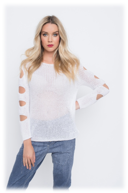 SLEEVES CUT-OUTS SWEATER