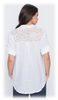 LACE BACK SEQUINED LINEN BLOUSE