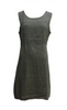 SLEEVELESS DRESS IN LINEN W/ EMBROIDERY