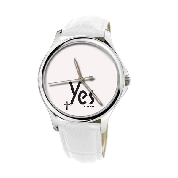 30 Meters Waterproof Quartz Fashion Watch With White Genuine Leather custom products