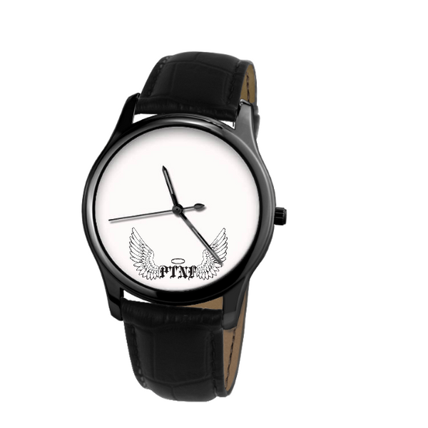 30 Meters Waterproof Quartz Leisure Watch With Black Genuine Leather custom product PNTF