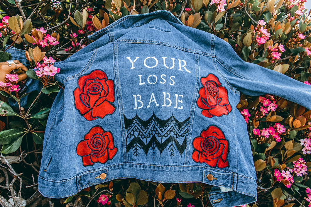 YOUR LOSS - Hand Painted original Denim Jacket