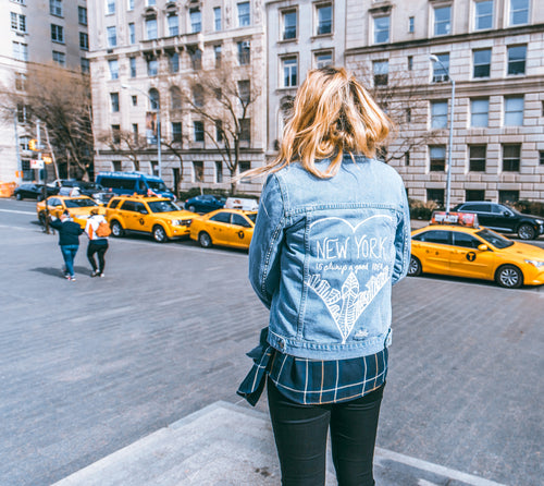 NYC GOOD IDEA - Hand Painted Jacket