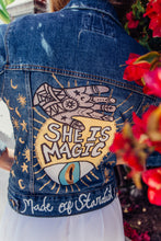She is Magic - Hand Painted Denim