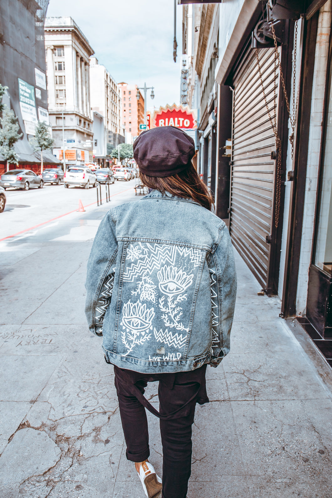Eye See You Hand Painted Denim Jacket Live Wyld
