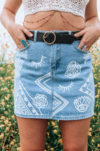 Wyld Heart blue denim skirt