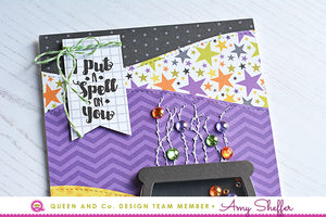 Pattern Play and Stitching - Halloween Hoopla Shaker Kit