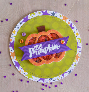 Pumpkin Shaped Shaker Two Ways - Halloween Hoopla Shaker Kit