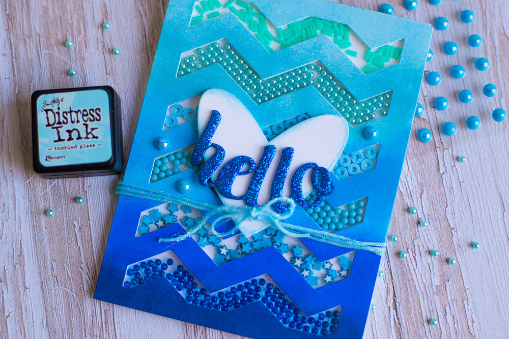 How to Create Ombre Shaker Cards