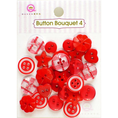 Button Bouquet IV Red