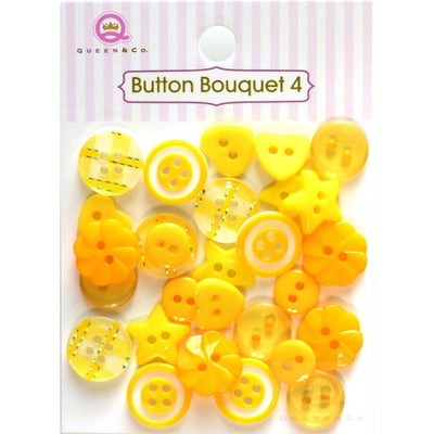 Button Bouquet IV Yellow