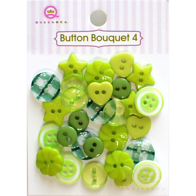 Button Bouquet IV Green