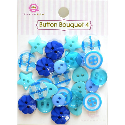 Button Bouquet IV Blue
