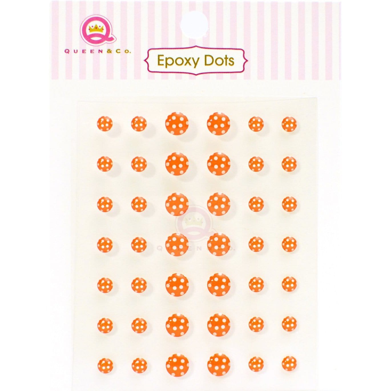 Epoxy Dot Polka Orange
