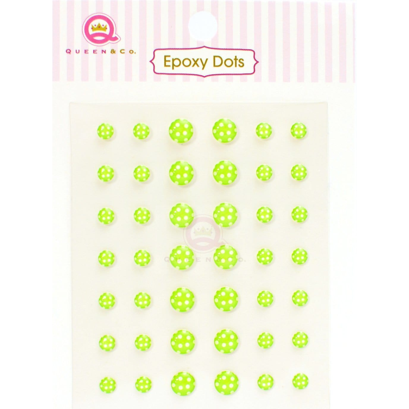 Epoxy Dot Polka Green