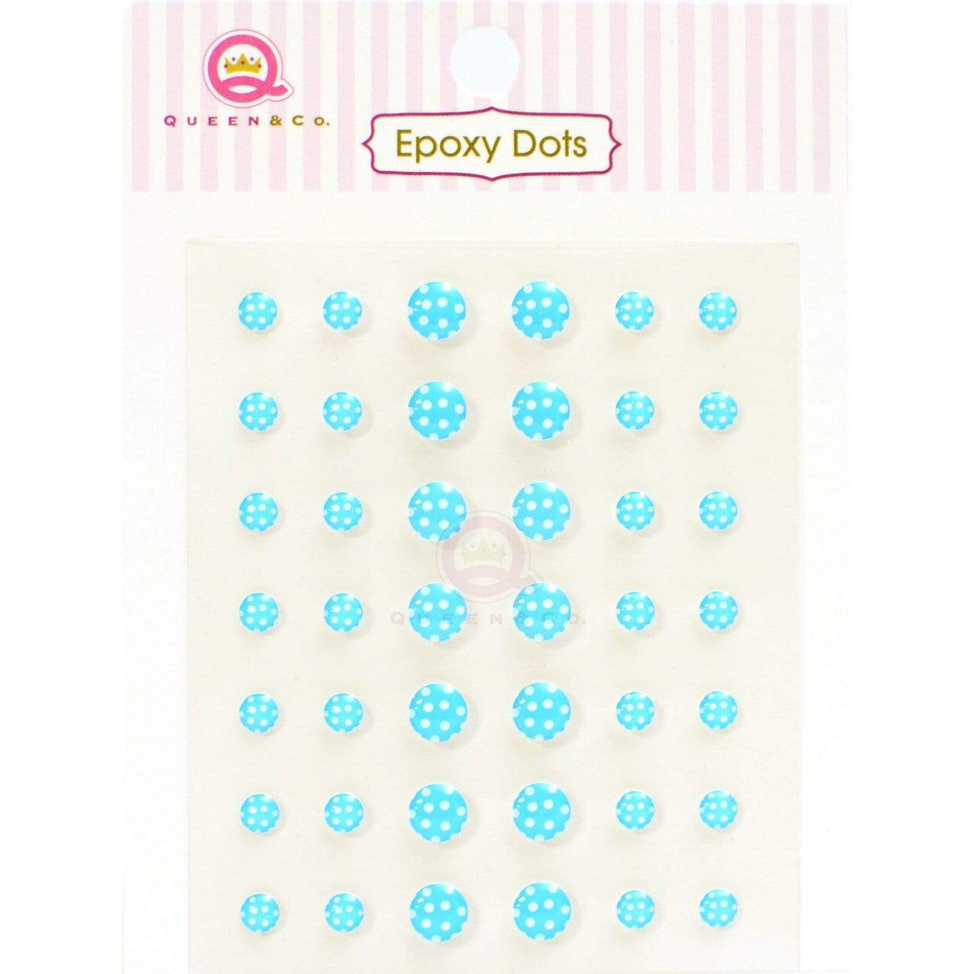 Epoxy Dot Polka Blue