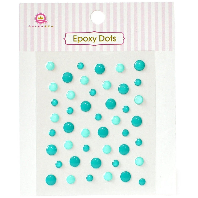 Epoxy Dots Teal