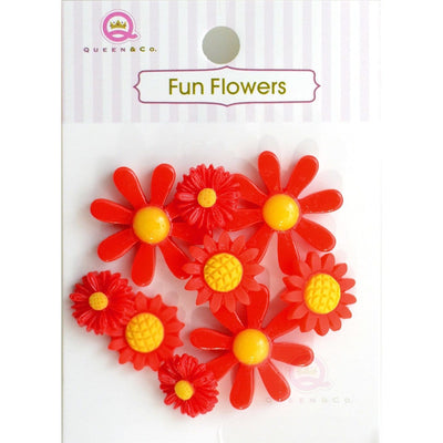 Fun Flowers Red