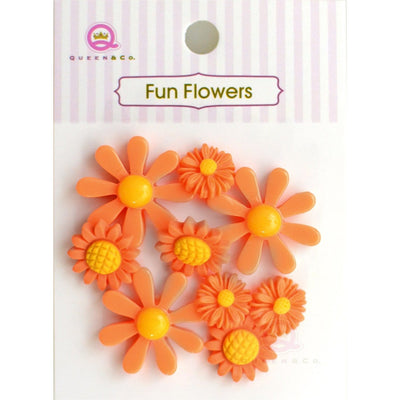 Fun Flowers Orange