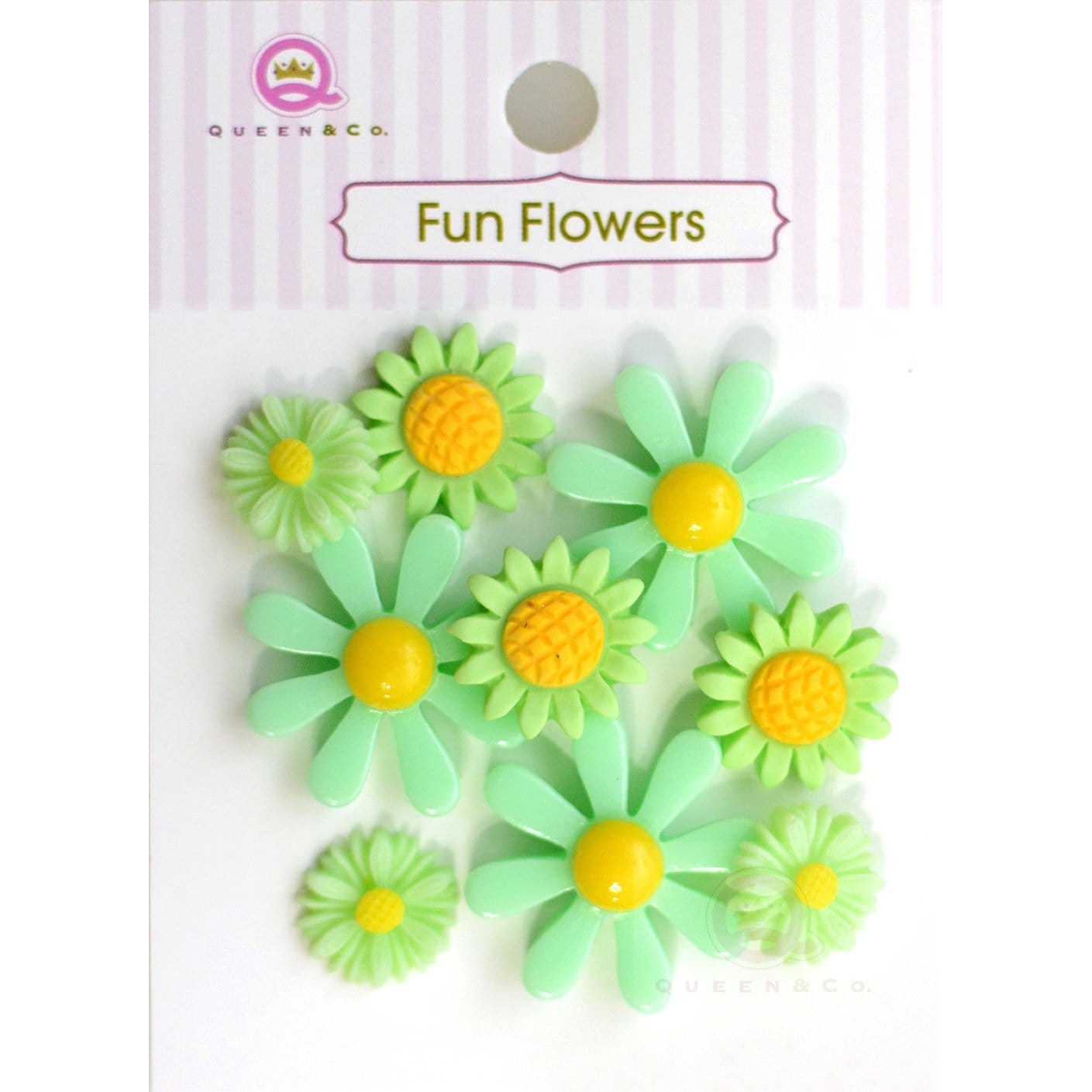 Fun Flowers Green