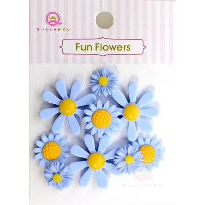 Fun Flowers Blue