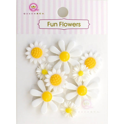 Fun Flowers White