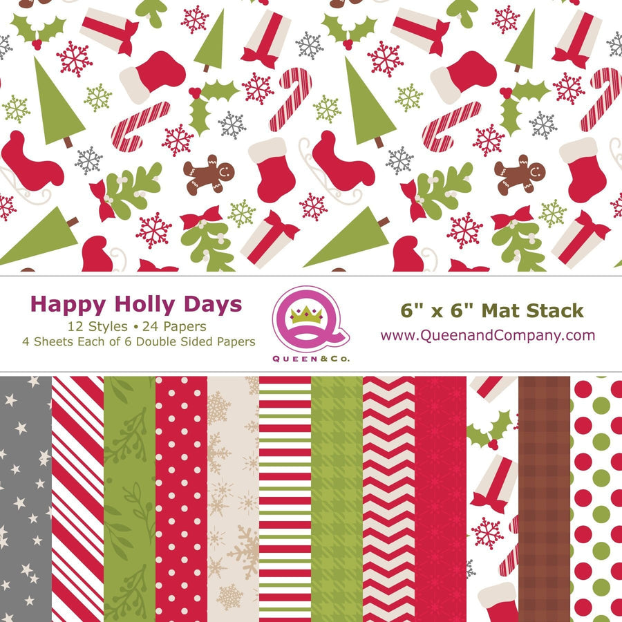 Happy Holly Days Paper Pad