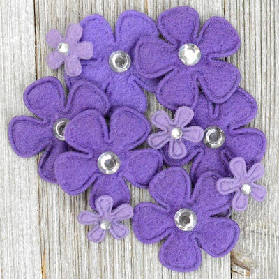 Bling Flowers Purple
