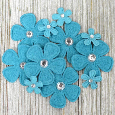 Bling Flowers Blue