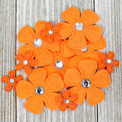 Bling Flowers Orange