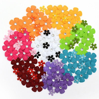 Rhinestone Flower Bundle