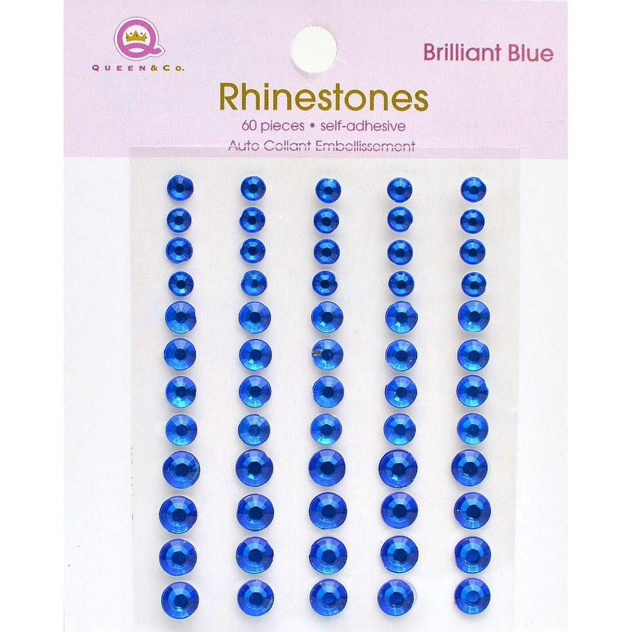 blue rhinestone stickers