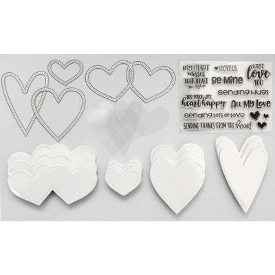 Happy Hearts Shaped Shaker Kit